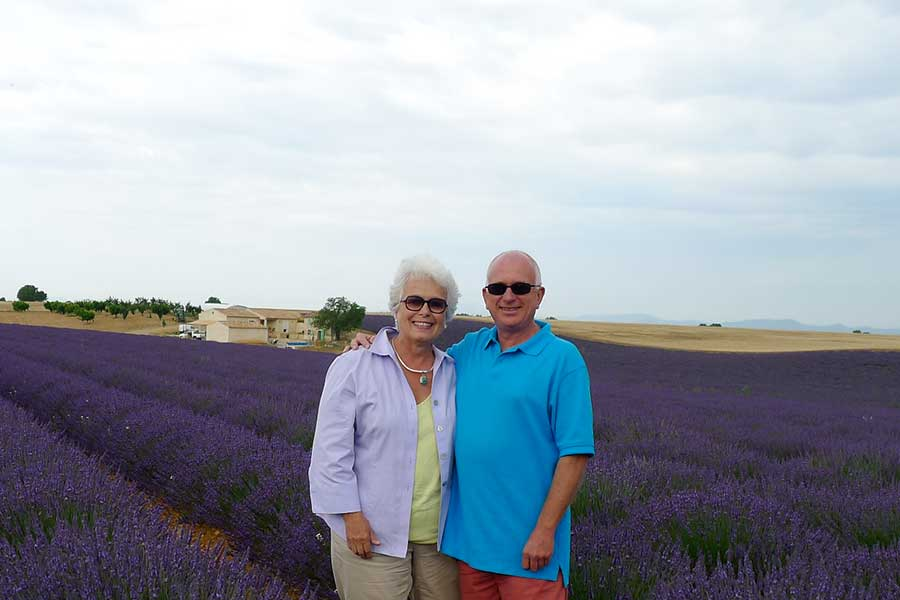 Mary James and Xavier, your tour guides in Provence, France